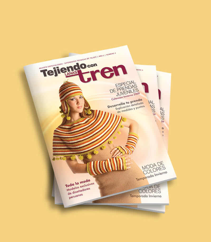 Revista Tejiendo con Lanas Tren